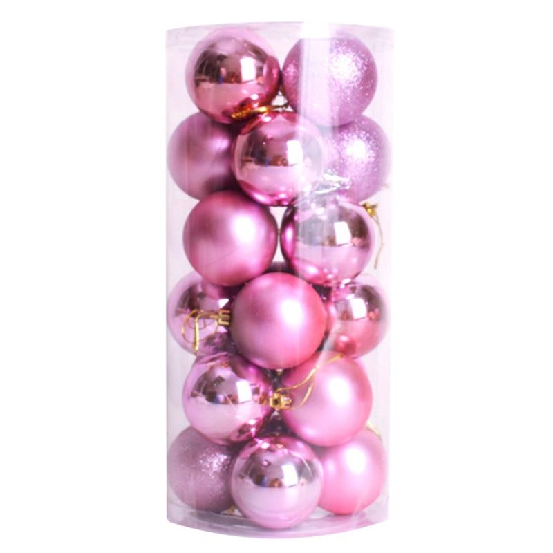 Hot Sale 24pcs Xmas Decorative 6cm New Year Christmas Tree Decorations Christmas Balls for Home Decor