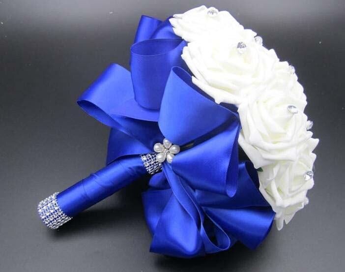 Wedding Bouquets Artificial Flores De Dama De Honor Nupcial Flores