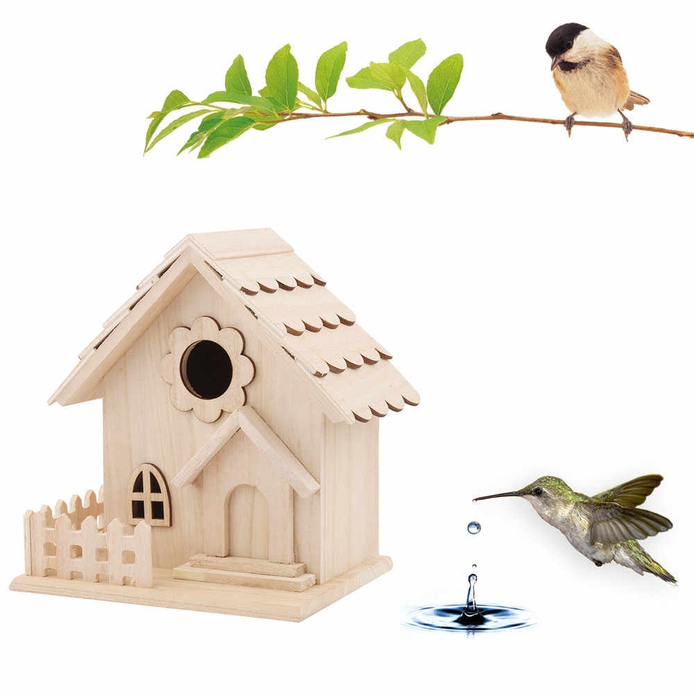 Pleasant Wooden Bird House Nest Creative Wall Mounted Wooden Outdoor Home Interior And Landscaping Ferensignezvosmurscom
