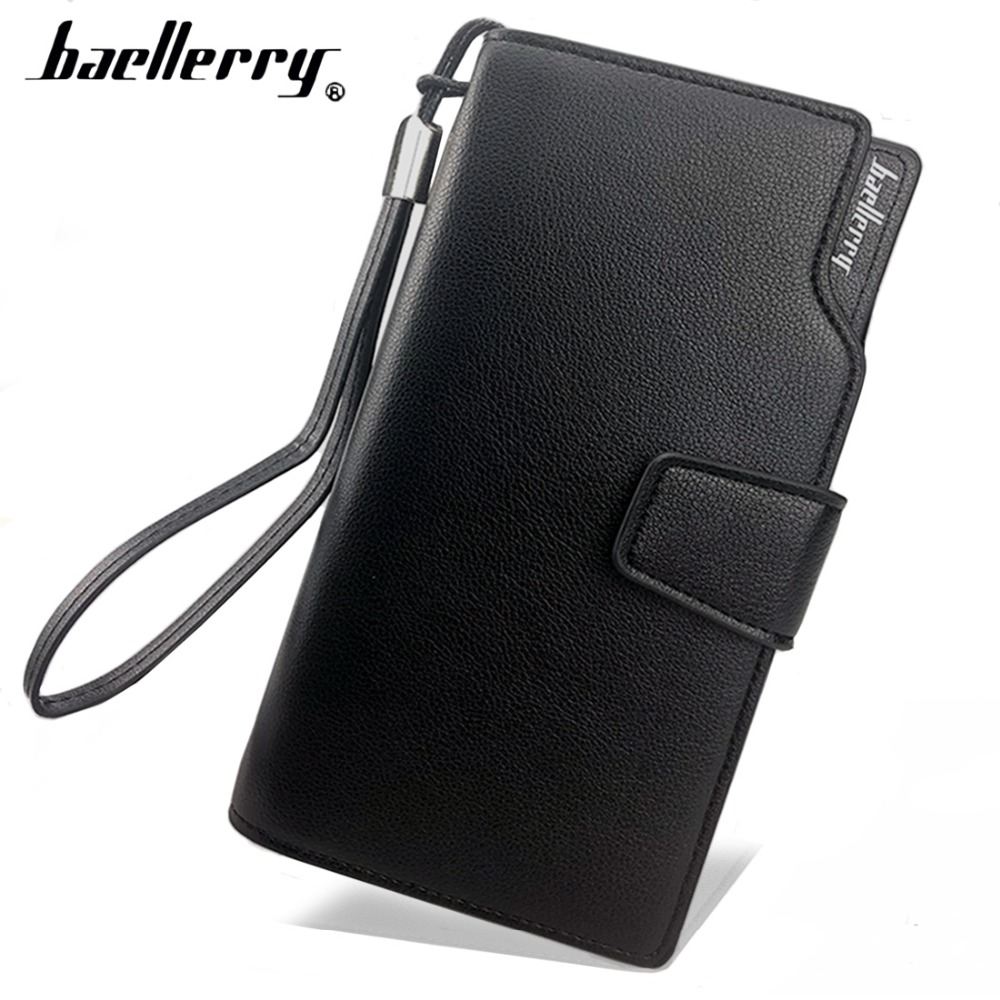 Baellerry Style Long Men Wallets Casual Soft 23 Cards Holder Male Purse Zipper Large Capacity Big Brand Luxury Wallet For Men