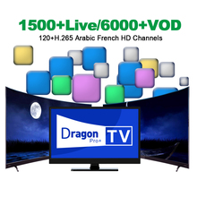 Dragon TV Pro Plus IPTV with H.265 Channels Best France Arabic IPTV Subscription 1500+ Live 6000+ VOD 1 Year For Android TV BOX