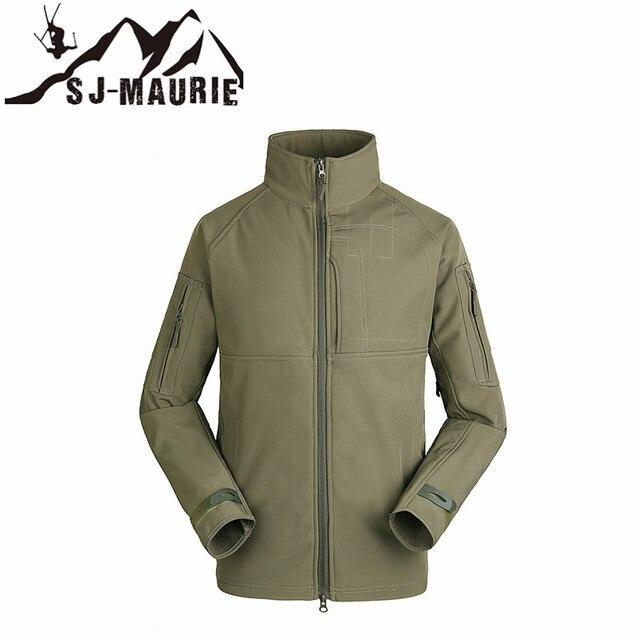 7aa592abf5e4d Outdoor Camouflage Waterproof Softshell Windproof Tactical Hunting Jacket  Fishing Trekking Fleece Men Coat Army Military Jacket