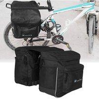 Bicycle Unilateral Luggage Bag Waterproof Large Capacity MTB Bike Rear Rack Carrier Bag Outdoor Cycling Pannier