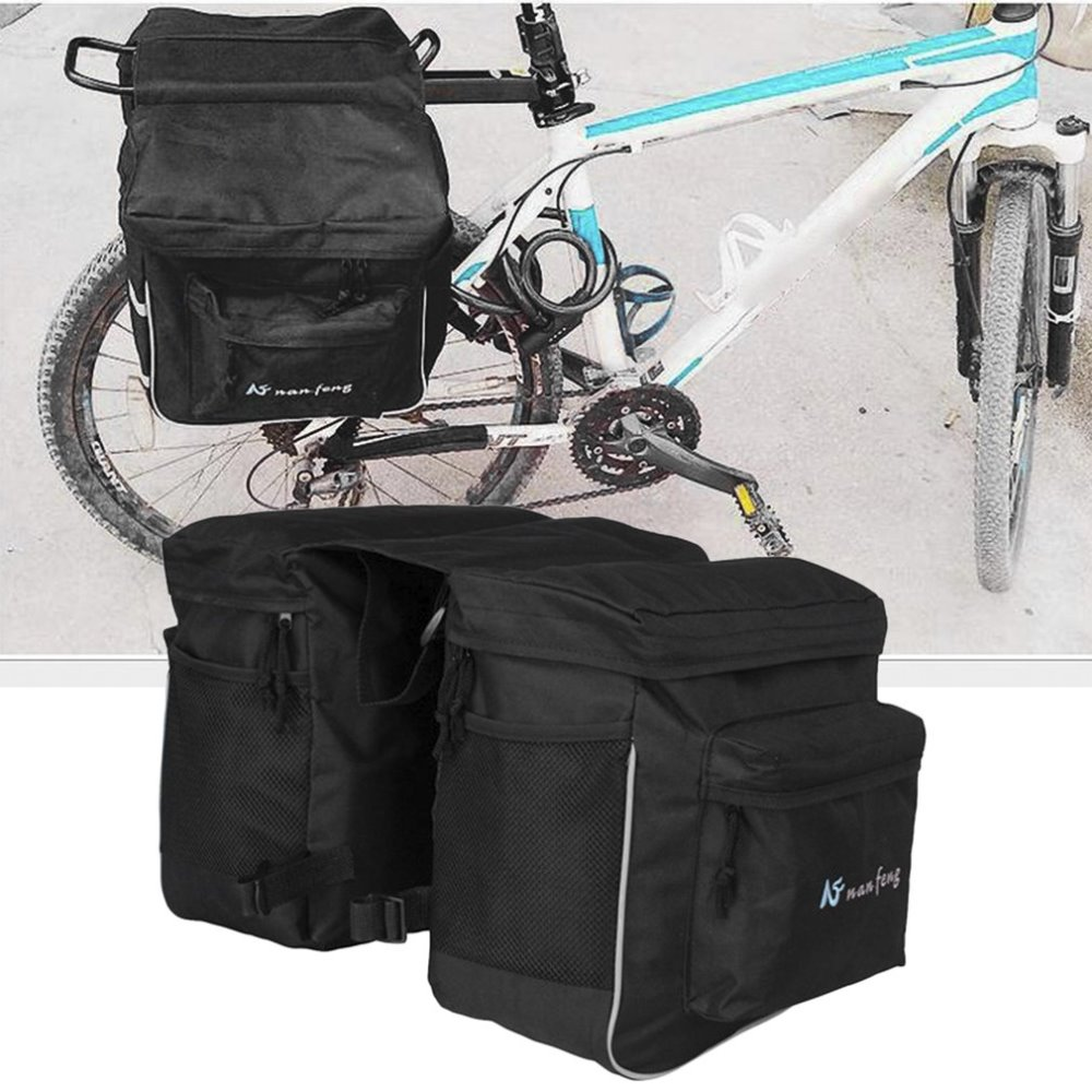Bicycle Unilateral Luggage Bag Waterproof Large Capacity MTB Bike Rear Rack Carrier Bag Outdoor Cycling Pannier Bag coolchange multi function bicycle rear seat trunk bag bike luggage package rear carrier pannier eva shell with rain cover