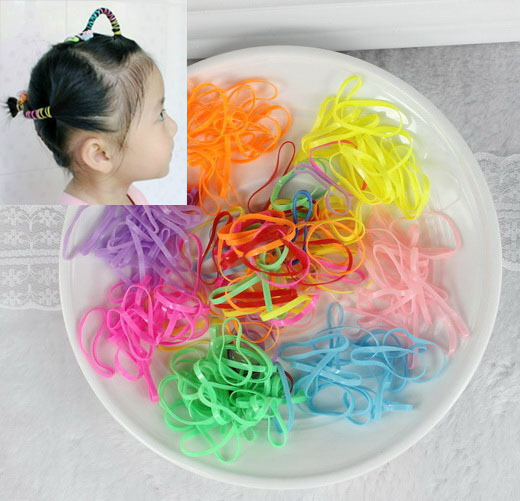 isnice 1000pcs flower headband Candy colored rubber bands apron tie strong  pull constantly bagged small hair band-in Hair Accessories from Mother    Kids on ... f1e1dda72ae