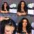 7A Corto Bob peluca Llena Del Cordón Pelucas de Pelo Humano Para Las Mujeres Negras Ondulado brasileño Virginal Del Pelo Humano Del Frente del Cordón Pelucas de Pelo Bob Corto pelucas