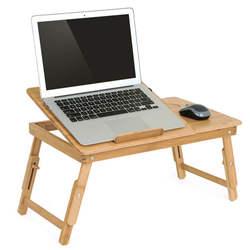 Эргономика регулируемый ноутбук стол с USB вентилятор охлаждения для Lap стол Bamboo Складной завтрак сервировки поднос уютный желтый