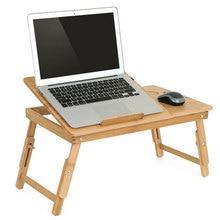 Эргономичный регулируемый стол для ноутбука с вентилятором USB для охлаждения, складной Бамбуковый стол для завтрака, сервировочный поднос для кровати, удобный желтый