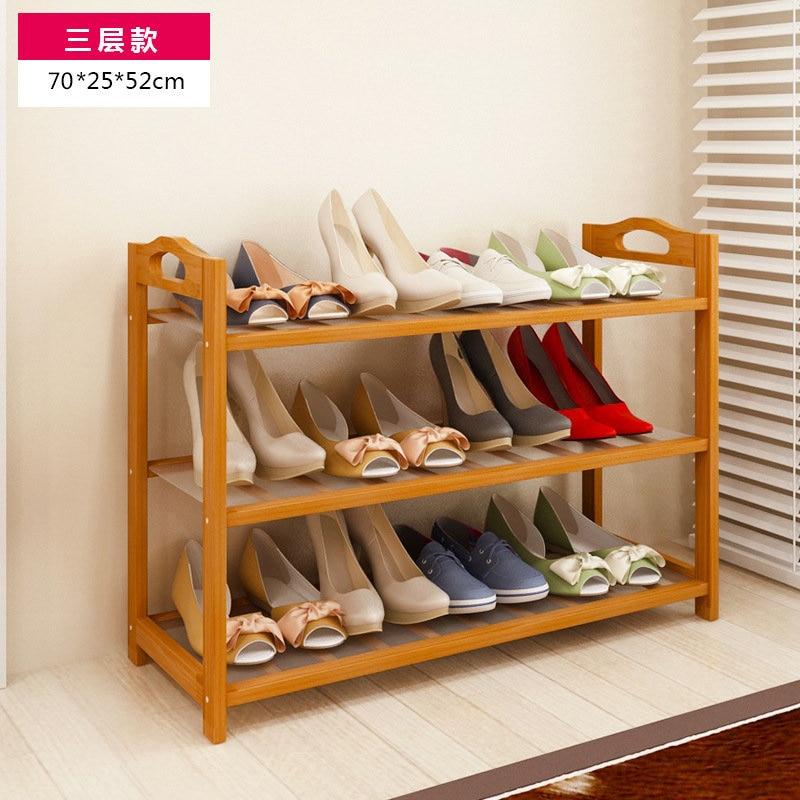 FREE Shipping 3 Tier Solid Wood Shoe Cabinet Nan Bamboo Shoe Racks Simple Shelves  Shelves Flower Racks In Shoe Racks U0026 Organizers From Home U0026 Garden On ...
