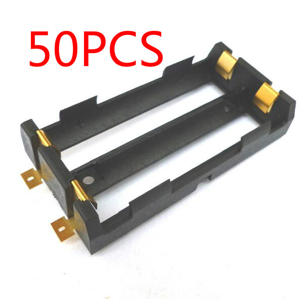 50Pcs lot High Quality 2 X 18650 Battery Holder SMD With Bronze Pins 18650 Battery Storage