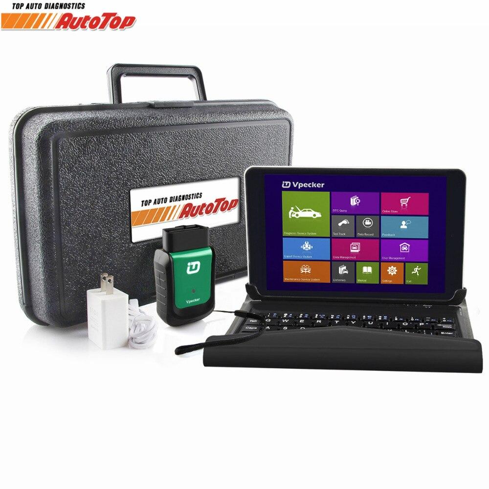Best V10 6 Vpecker Easydiag OBD2 Diagnosis Wifi OBD 2 Automotive Scanner 8 inch Windows 10