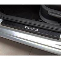 4 шт. виниловая Накладка на порог автомобиля из углеродного волокна для Fiat Qubo