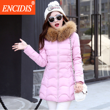 5 colors Plus size Winter coat women 2016 New Lady Medium Long coats and Jacket Female Fur Hooded Parka clothing M94