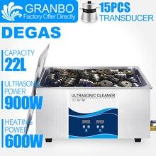 Granbo cyfrowa myjka ultradźwiękowa 22L 900W z DEGAS ogrzewanie ultradźwiękowa przemysłowa do części silnika samochodowego usuń olej