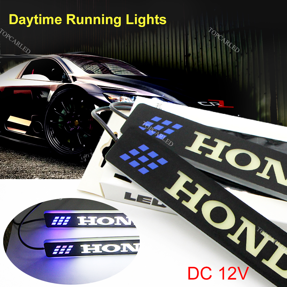 2Pcs LED 12V COB DRL Daytime Running Lights for HONDA Super Bright Auto Driving Lamp Silicone Bendable Day Light Car-styling 2 pcs universal super bright 5 led 10w daytime running light for auto car light drl auxiliary lamp quality assured wholesale
