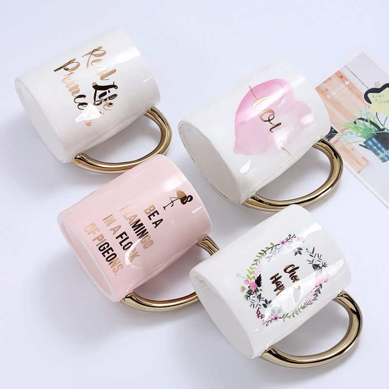 Creative 400 ml Coffee Mug Heat-Resistant Coffee Mug Breakfast Milk Tea Water Mug for Unique Gift