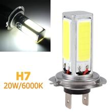 купить 20W H7 Super High Power COB LED Headlight  6000k White Car Light  12V Lamps  COB Led Head Lamp for Fog Driving дешево