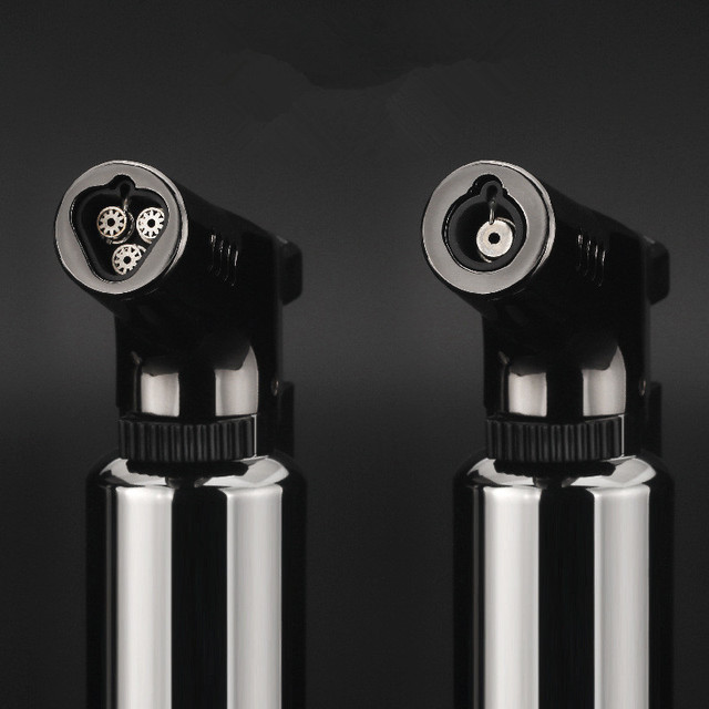BBQ Outdoor Triple Torch Turbo Cigar Lighter Spray Gun Jet Butane Pipe Lighter Kitchen 1300 C Powerful Windproof Lighter No Gas 2