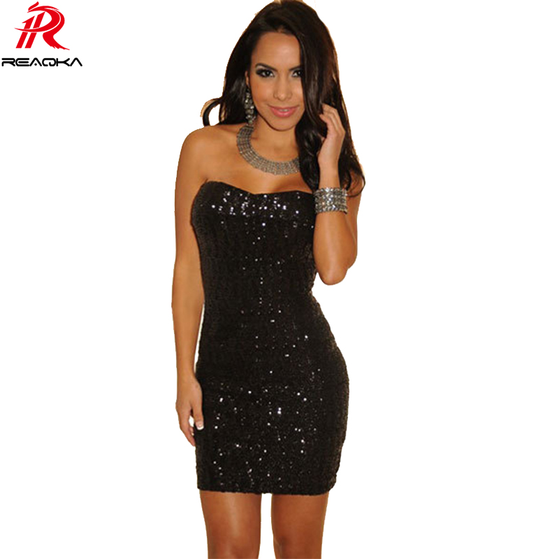 Sexy Women Strapless mini Summer Sequins dress 2017 Elegant Backless Bodycon sleeveless Luxury Nightclub Party Dresses Vestidos