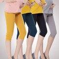 2017 Novo de Algodão Mulher Grávida Leggings Leggings De Cintura Alta Ventilação Confortável Para As Mulheres