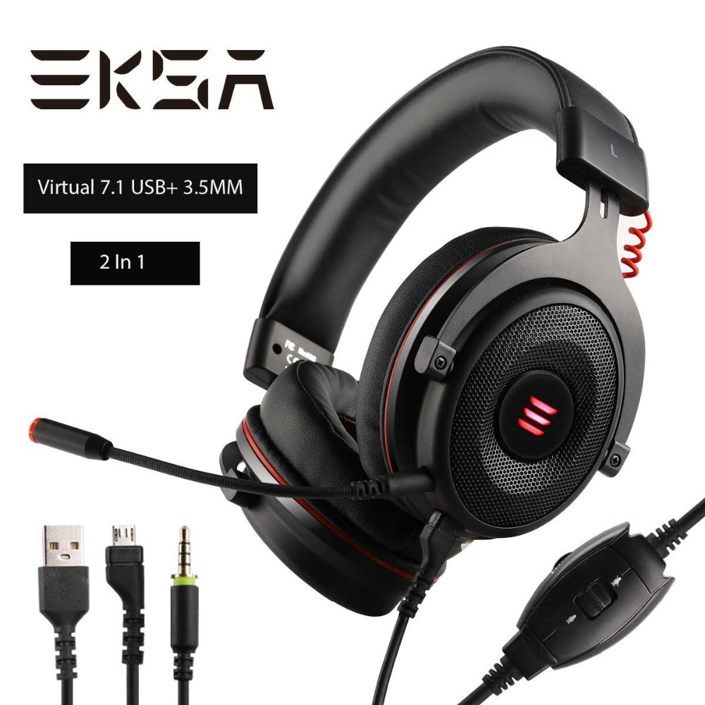 336a5088e53 EKSA Gaming Headphones Wired Gamer Headset Virtual 7.1/ 3.5mm Over Ear  Headphones With Noise Cancelling Mic For PC/Xbox/PS4 etc - aliexpress.com -  imall.com