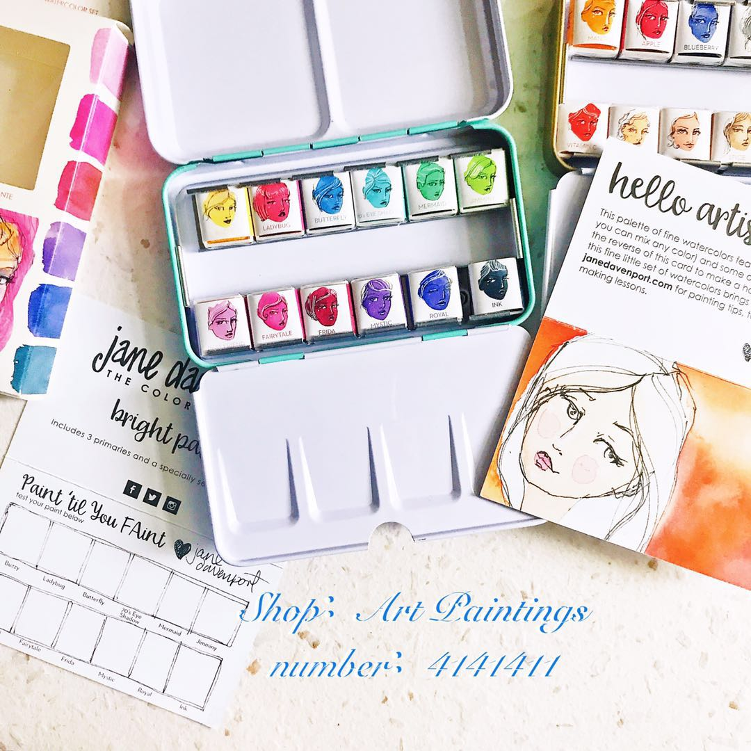 Jane Davenpor Import d'amérique couleur unie aquarelle couleur coffret Aquarela aquarelle ensemble acquerello aquarelpapier