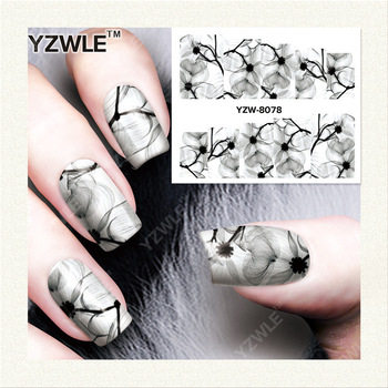 YZWLE 1 Sheet DIY Decals Nails Art Water Transfer Printing Stickers Accessories For Manicure Salon YZW-8078