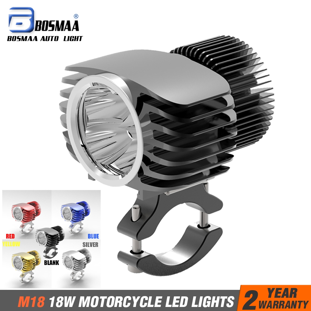 Led Spotlight Headlamp: Bosmaa LED Car External Headlight 18W 6000K White