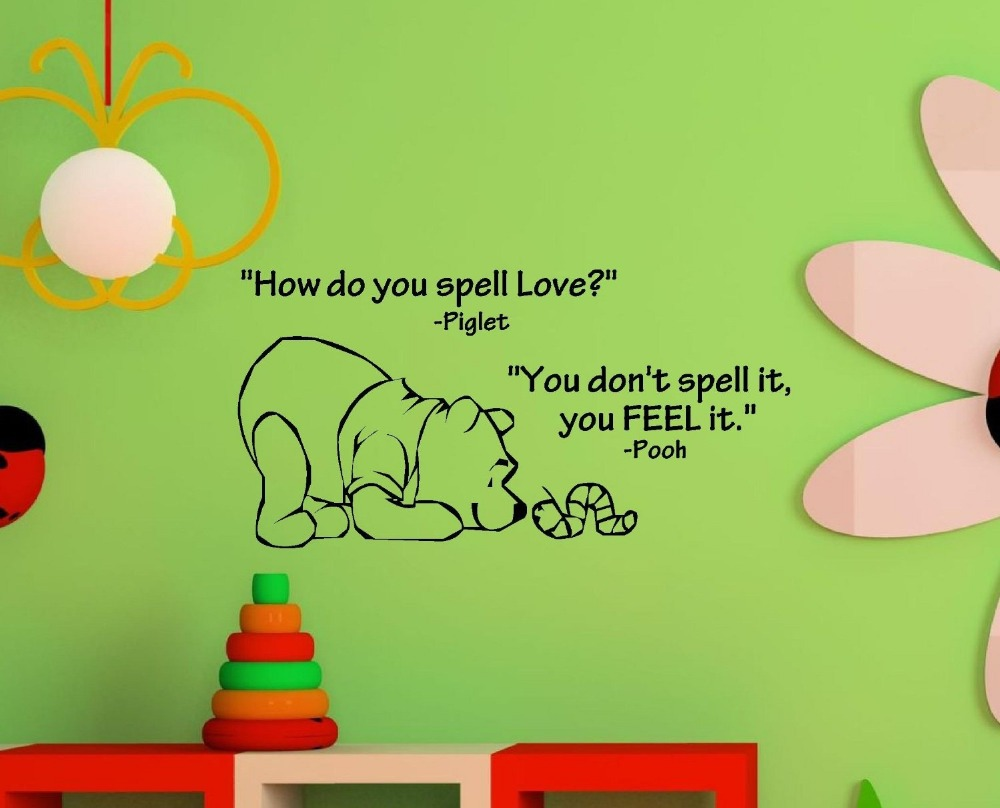 Aliexpresscom Buy How do you spell love Winnie the Pooh Vinyl