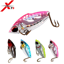 XTS Metal VIB Lure VIB Bait Sinking Vibration Spoon Fishing Lure Hard Metal Artificial VIB Jigging Pike Bait Tackle 4004 1pc 11 7cm 13g crank sinking vibration fishing lure bass vib hard bait freshwater fishing pike bait fishing tackle diving 1 2 4m