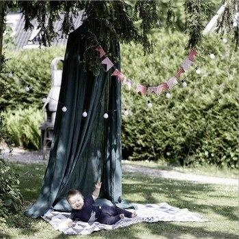 2018 hot chico dosel cama cortina redonda Huang Domo colgar carpas mosquitera para bebé carpa para jugar para niños decoración del hogar