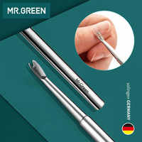 MR.GREEN Stainless Steel Cuticle Remover Double Sided Finger Dead Skin Push Nail Cuticle Pusher Manicure Pedicure Care Tool