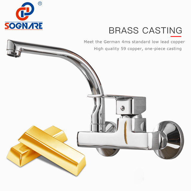 Online Shop SOGNARE Wall Mounted Kitchen Faucet Single Handle ...