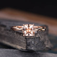 Cuteeco Women Rose Gold Ring For Bride Wedding Crystal Engagement Girl 2019 Hots