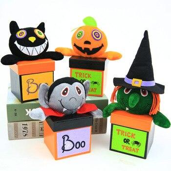 Trick or Treat Halloween Candy Box Snack Packaging Black Cat Bat Witch Pumpkin Kids Gift Home Decor 10 pcs/lot DEC436