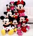1 Unids 28 cm Venta Caliente Encantadora de Mickey Mouse Y Minnie Mouse de Peluche Suave Juguetes de Peluche Regalos de Alta Calidad