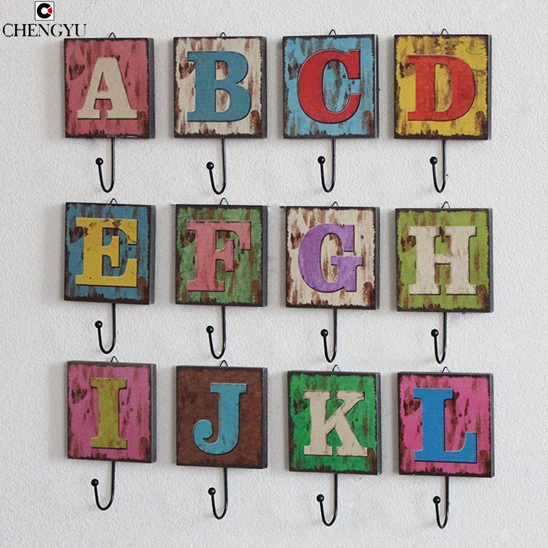 26 letters spell hanging clothes hooks keys clothing for Furniture 6 letters