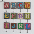 26 letters spell Hanging clothes hooks keys clothing coffee shop wall living bedroom home decoration wall ornaments
