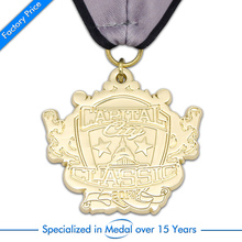 OEM No MOQ metal medals cheap Custom Souvenir Metal  Medal high quality 3D gold with ribbons