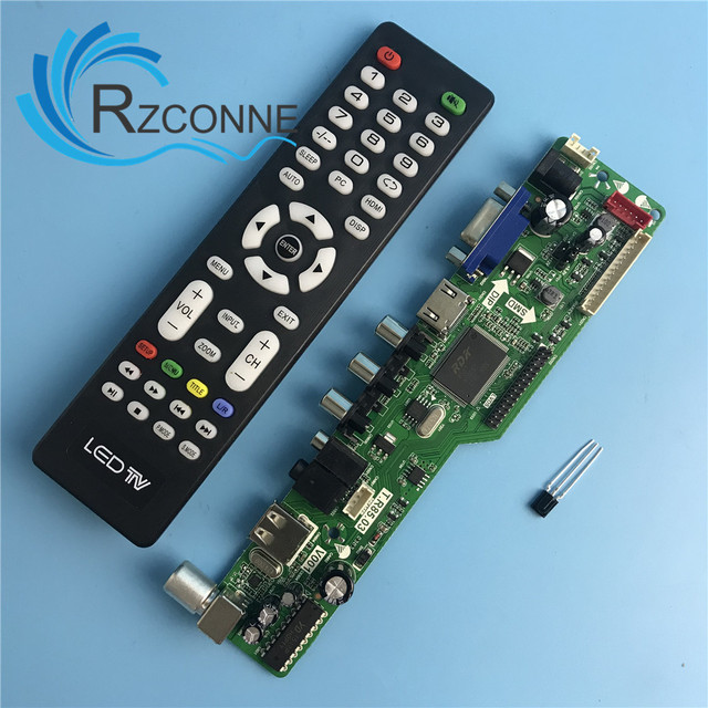 b755ee133d6 P Universal LCD Controller Board Resolution TV Motherboard VGA HDMI AV TV USB  HDMI Interface Driver Board