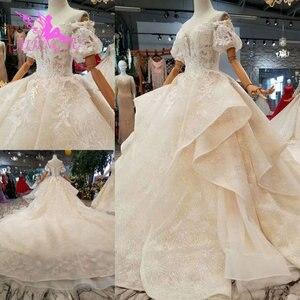 Image 1 - AIJINGYU Hochzeit Shop Mode Kleider Royal Spitze Farbe Design Sommer Kleid Sexy Kurze Hochzeit Kleid
