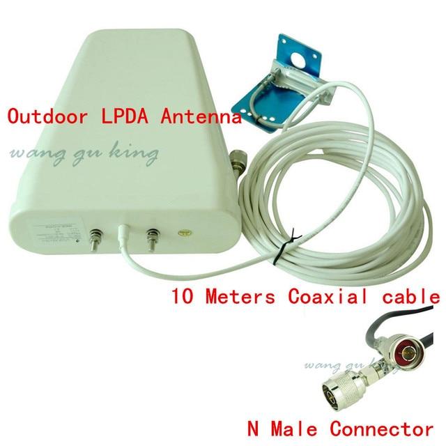 Открытый Антенны 800-2500 мГц частота 3 Г 4 Г GSM CDMA DCS Вне Направленного ПДСХР Антенна для Сигнала Повторитель + 10 м Кабель
