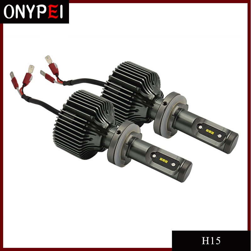 New 1 Pair Auto Car H15 led Headlight bulbs White H15 LED Replacement Bulb 30W 6000K 4200LM купить