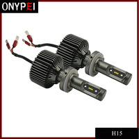 New 1 Pair Auto Car H15 led Headlight bulbs White H15 LED Replacement Bulb 30W 6000K 4200LM