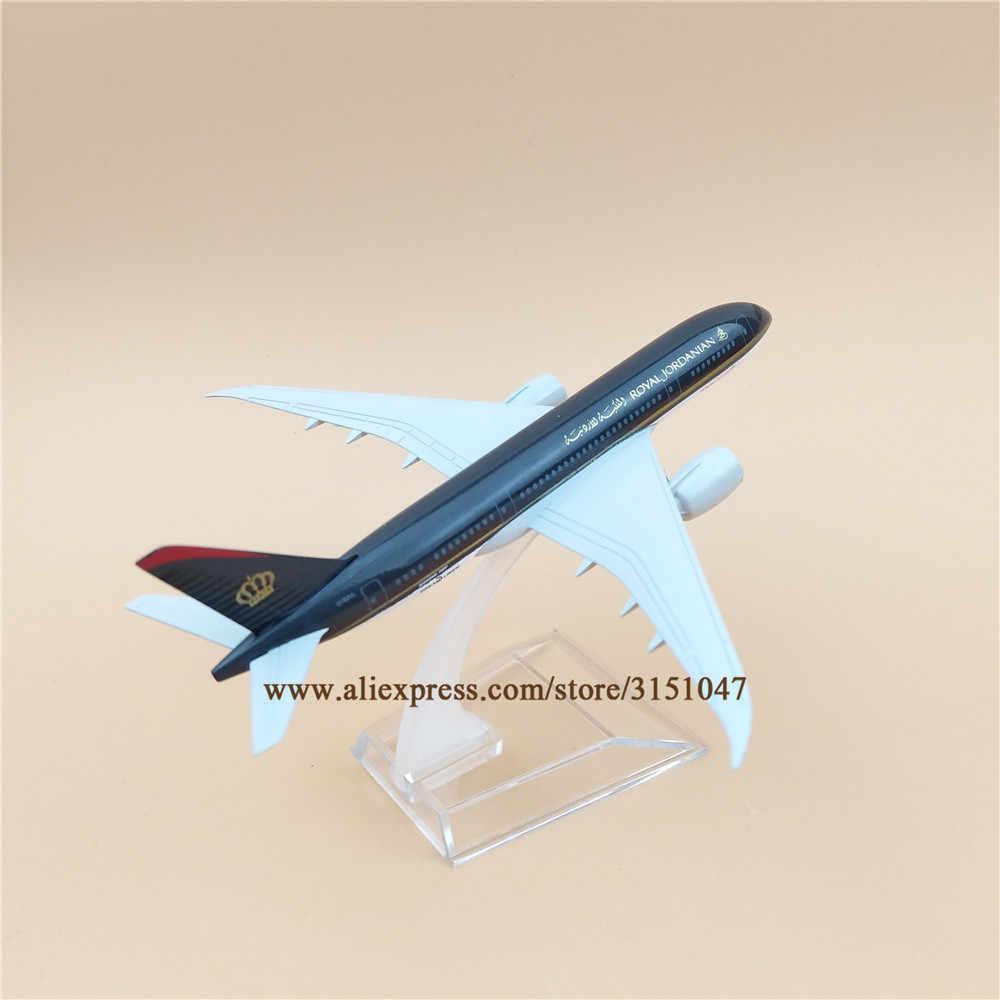 16cm Alloy Metal Air Royal Jordanian Airlines Plane Model Boeing 787 B787 Airways Airplane Model Aircraft Mode Kids Gift