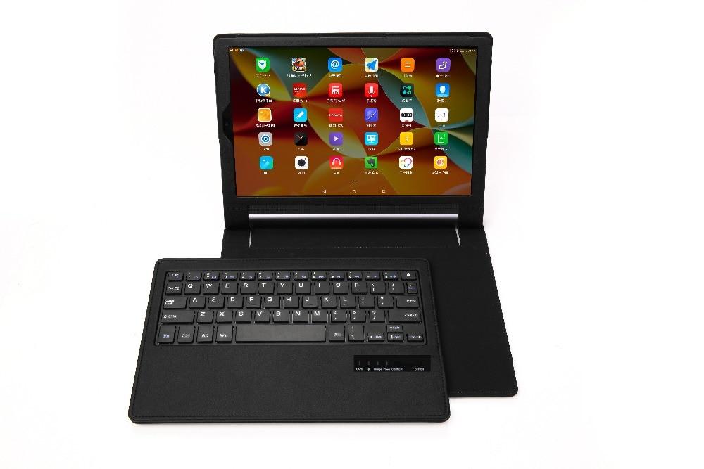 Litchi PU Cuir Flip Couverture Pour Lenovo yoga Tab 3 Pro 10 X90L X90 F yoga tab3 plus 10.1 X703F clavier Cas + Stylet + Film.