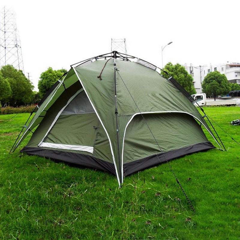 High Quality 3 4 Person Double Layer Waterproof Family Tent Quick Open Automatic Large Tents for Outdoor C&ing Hunting Onsale-in Tents from Sports ...  sc 1 st  AliExpress.com & High Quality 3 4 Person Double Layer Waterproof Family Tent Quick ...
