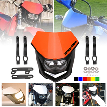 SPEEDPARK 7 color Universal 35W Motorcycle Enduro Headlight H4 Head Light For  KTM Honda Suzuki Yamaha Kawasaki BMW