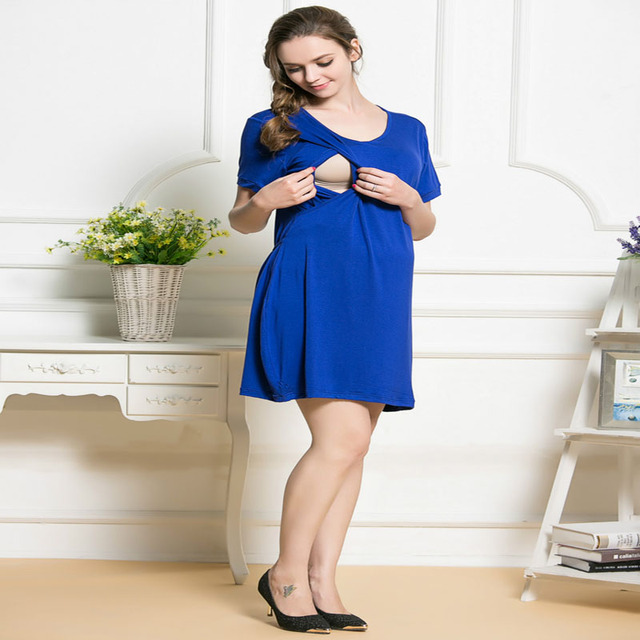 fashion nursing dress breastfeeding dress summer maternity clothes ...