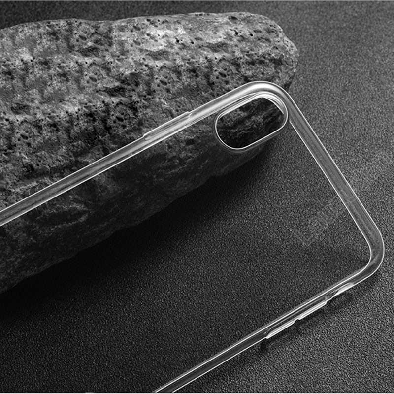 Étui pour iPhone de téléphone clair 7 étui iPhone XR étui souple en Silicone pour étui iPhone 11 Pro XS Max X 8 7 6 6s Plus 5 5S SE
